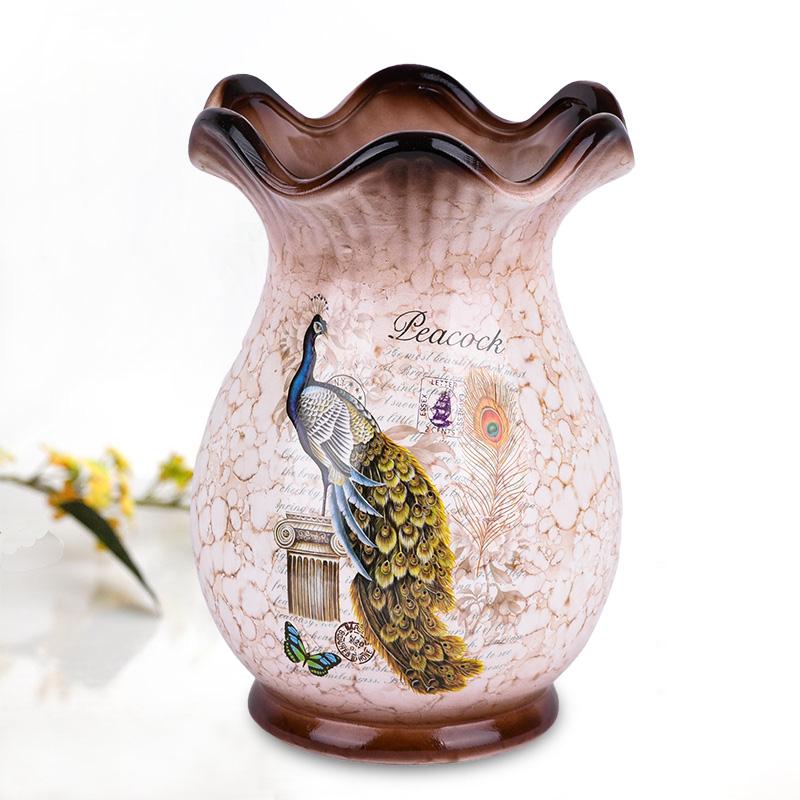 欧式陶瓷器花瓶摆件客厅插干花艺景德镇家居餐桌创意摆设装饰花瓶 Изображение 1