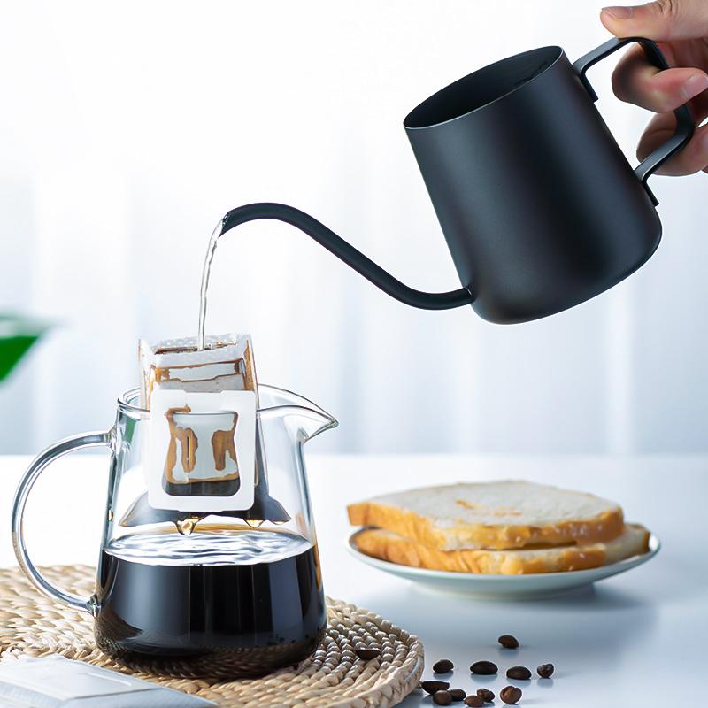 天喜手冲咖啡壶咖啡过滤杯细口壶不锈钢家用咖啡器具挂耳长嘴水壶
