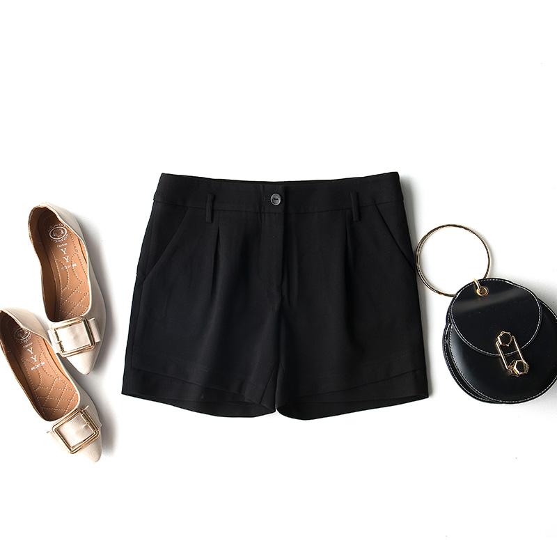 黑色性感百搭靴裤短裤打底配丝袜秋冬新款女内搭经典版型包臀显瘦