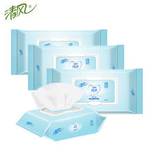 Clean Air Adult Wet Paper Towel EDI Pure Water Hygiene Wet Towel Alcohol-free Children Hand Cleaning Available 80 Slices 4 Packs