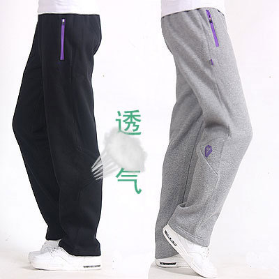 Lakers Kobe sports pants mens pants spring and autumn thin knitted pure cotton loose basketball fitness running straight back pants