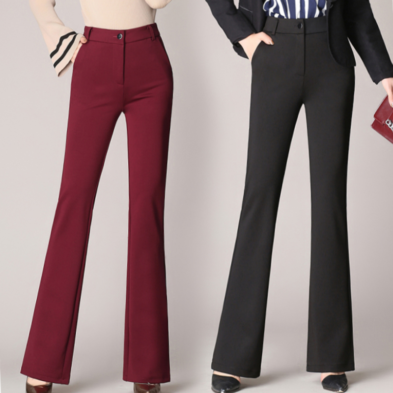 Flared pants womens high waisted slim draped overalls thin autumn oversized pants new micro flared pants versatile pants