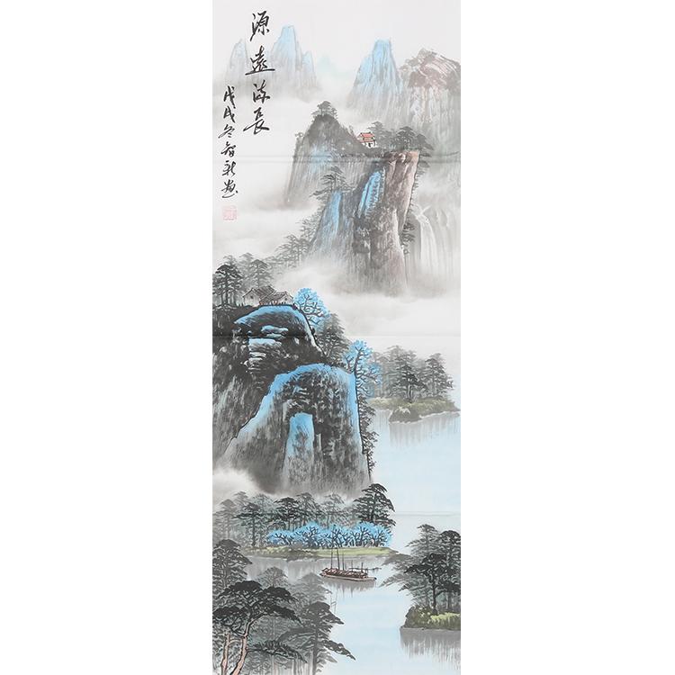 四季圖春夏秋冬過道掛畫范智新玄關裝飾字畫手繪真跡山水國畫