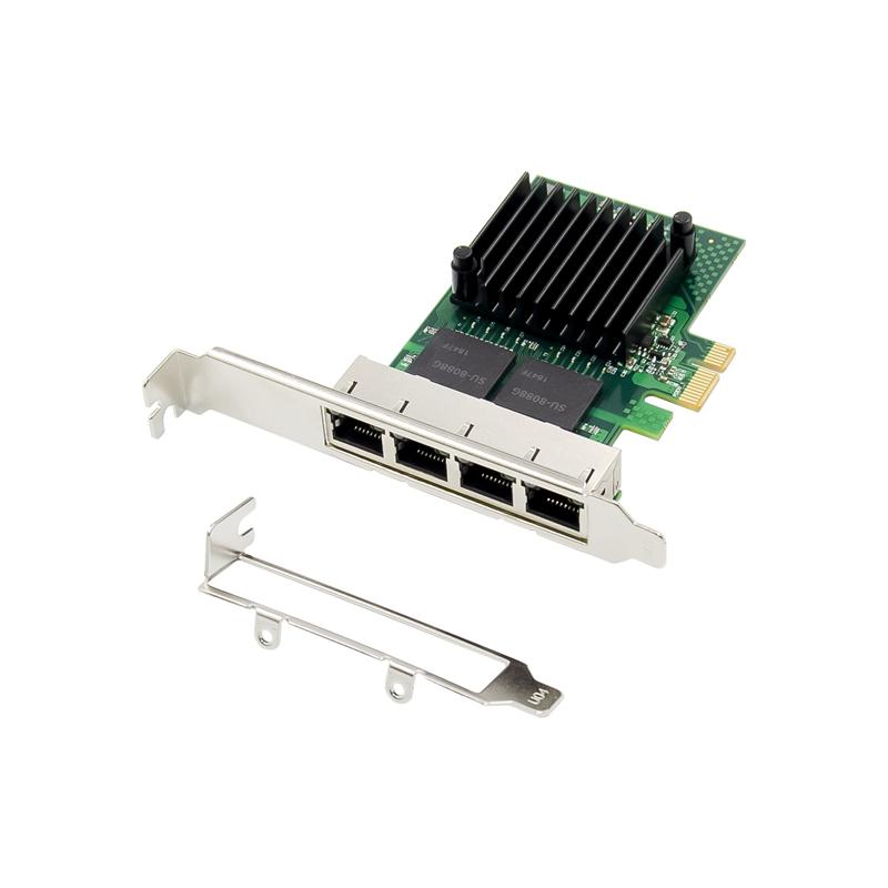 英特尔inteli350芯片4口rj45网卡