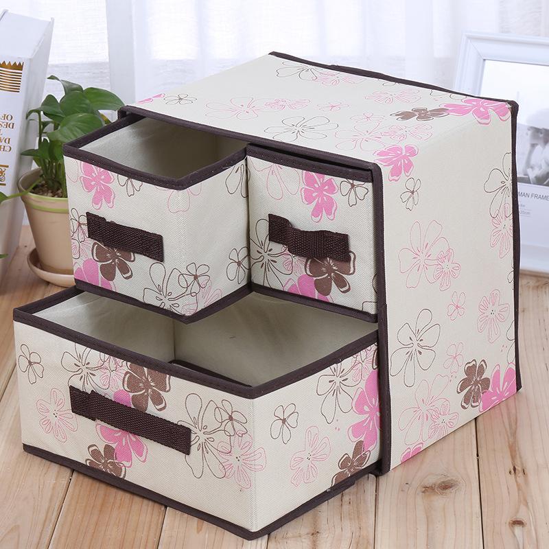 家用装宝宝衣服收纳盒抽拉式储物柜子放婴儿衣物整理箱子布艺神器 Изображение 1
