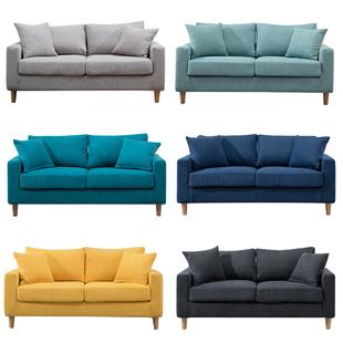 布艺沙发小户型客厅现代简约双人三人北欧简易出租房服装店两人座