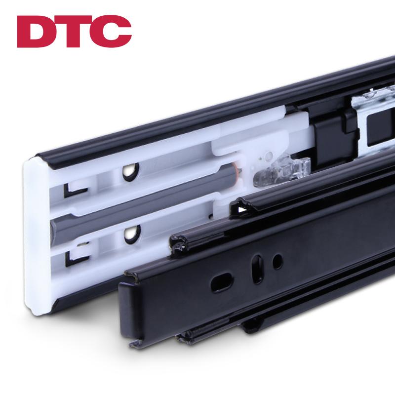 東泰DTC 抽屜軌道 櫥櫃滑道三節軌道導軌靜音雙彈簧阻尼滑軌