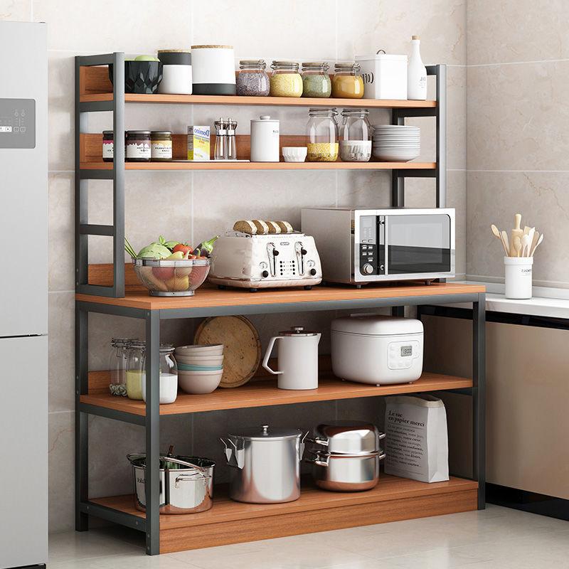 A厨房置物架烤箱微波炉架3落地多层放锅碗灶台架子收纳架家用货架