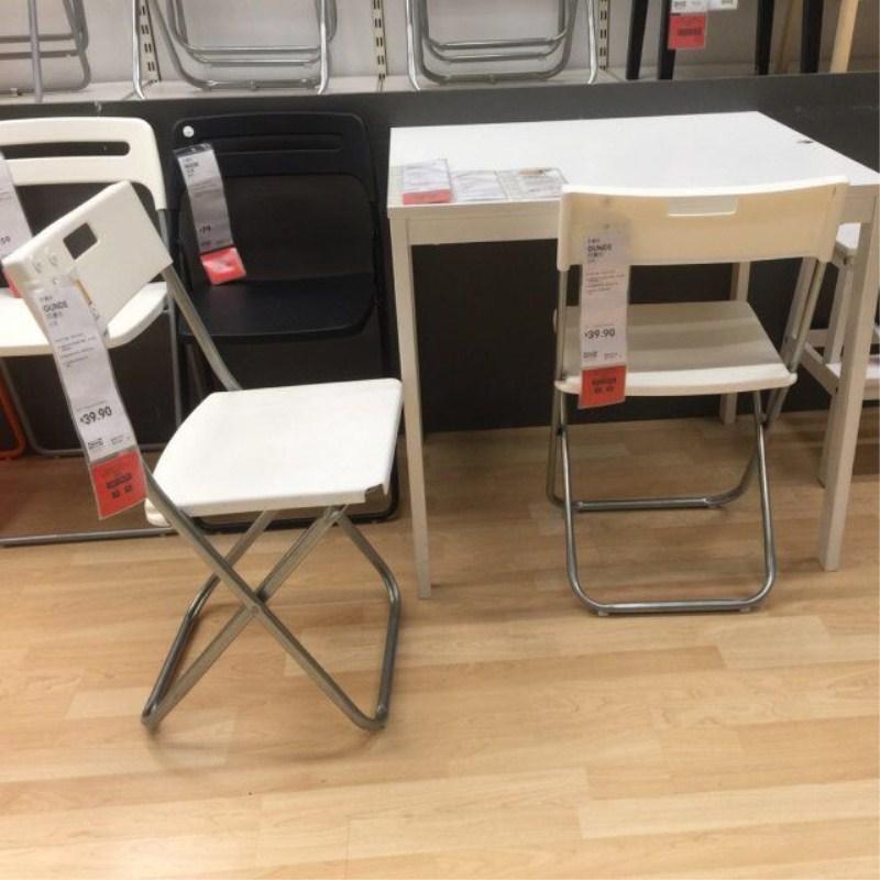 宜家国内代购冈德尔折叠椅 办公椅 会议椅 餐椅 黑白色