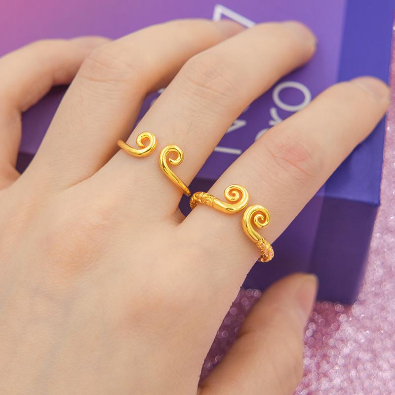 热销187件需要用券紧箍咒戒指男女对戒仿黄金爱你一万年孙悟空沙金情侣款至尊宝戒指