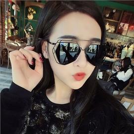 新款大框太阳镜多边形框架时尚眼镜厂家直销批发 潮墨镜太阳眼镜图片