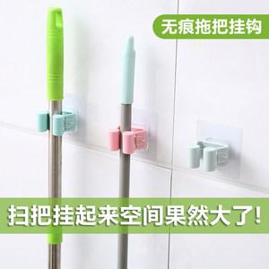 拖把挂钩架子强力吸盘壁挂式浴室客厅免打孔无痕扫把卡座厨房挂架