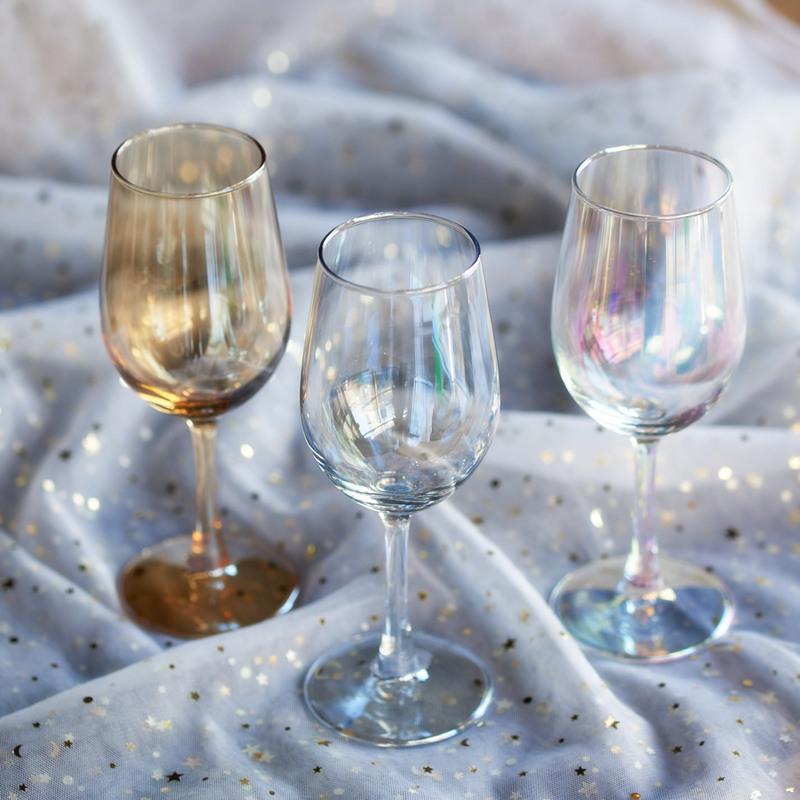 13.00元包邮彩色玻璃酒杯 欧美风家具装饰小摆件高脚杯 客厅酒柜装饰品红酒杯