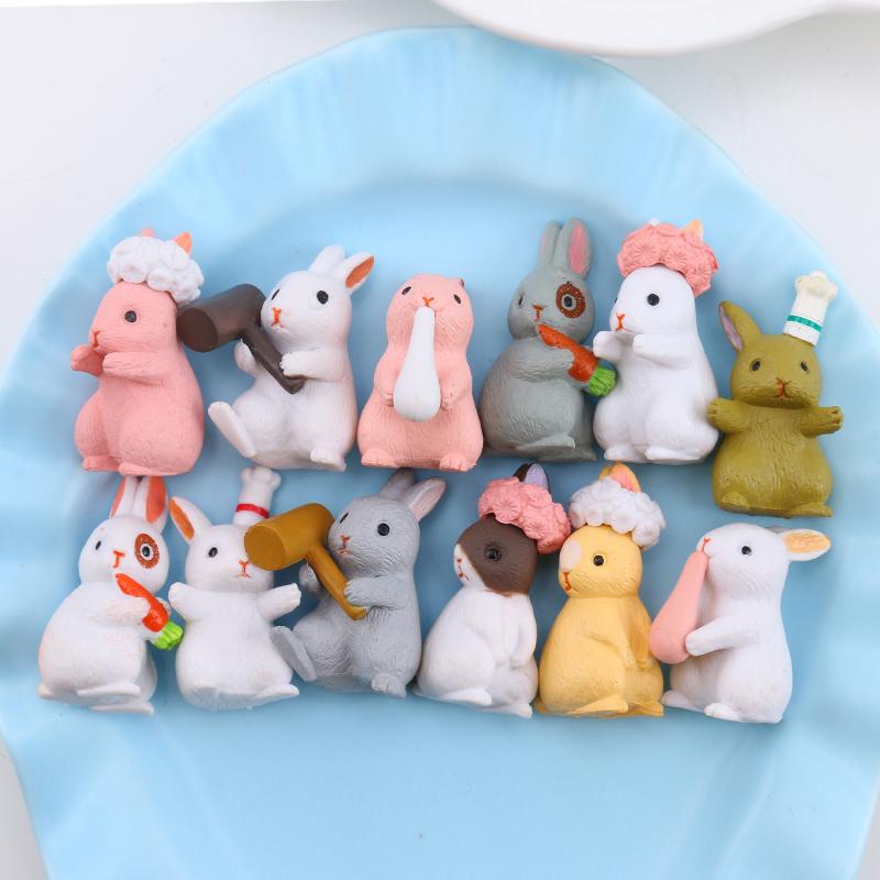 可爱兔子公仔奶油胶手工diy手机壳