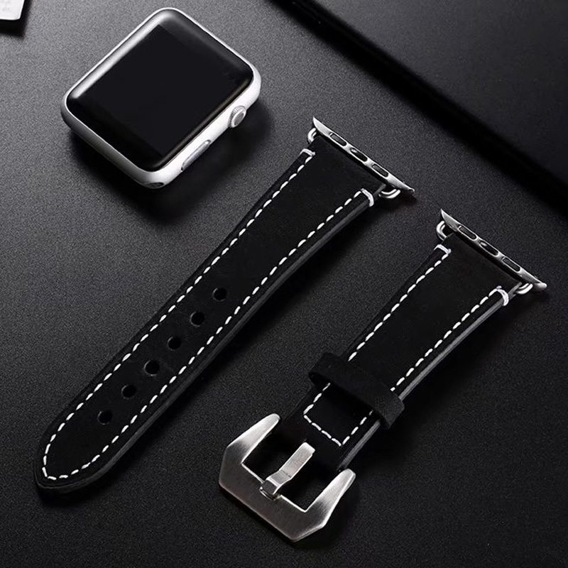 Classic iwatch5 / 6 frosted leather Apple watch 3 Apple 2 / 3 / 4 / SE watch strap