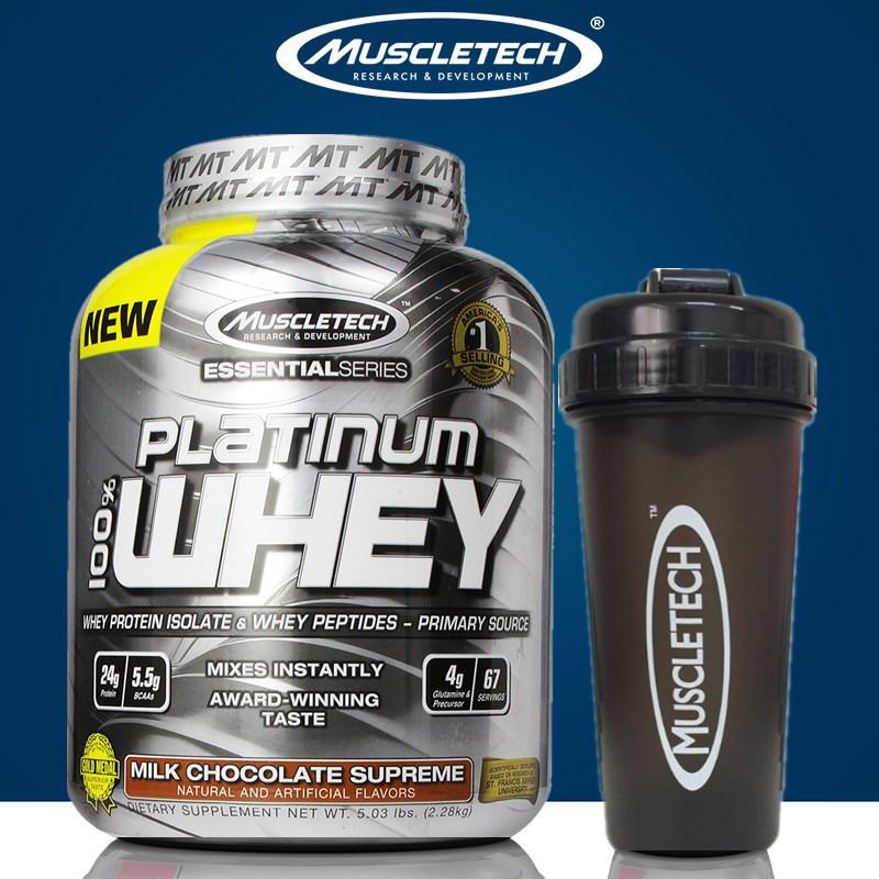 Muscletech肌肉科技白金乳清蛋白质粉5磅 增肌粉健肌粉|官方授权|,可领取20元天猫优惠券