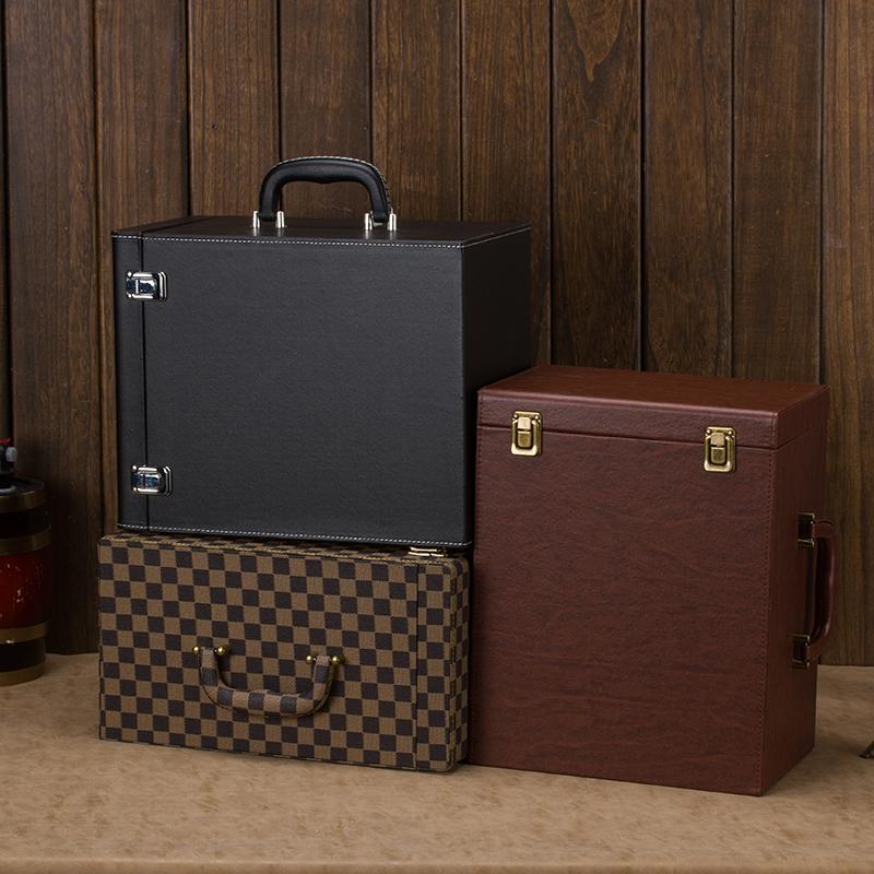 高档红酒盒六瓶装红酒箱6支装皮箱盒子葡萄酒包装礼品盒木盒通用
