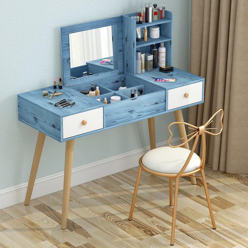 翻盖式梳妆台收纳柜一体北欧小户型卧室化妆台多功能简约化妆桌子网上购物优惠券