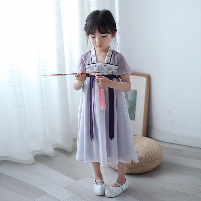 限55555张券女童汉服中国风夏季仙女齐胸襦裙宝宝古装儒裙童装儿童连衣裙超仙