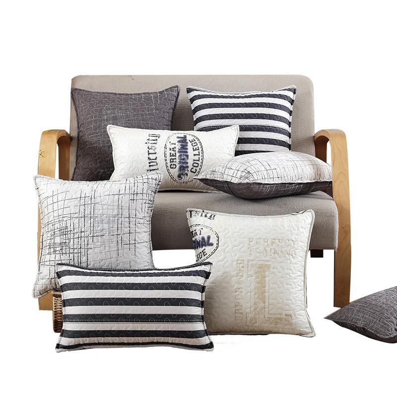 小艾家居全棉布藝抱枕套含芯簡約 辦公室靠背墊靠枕芯沙發靠墊
