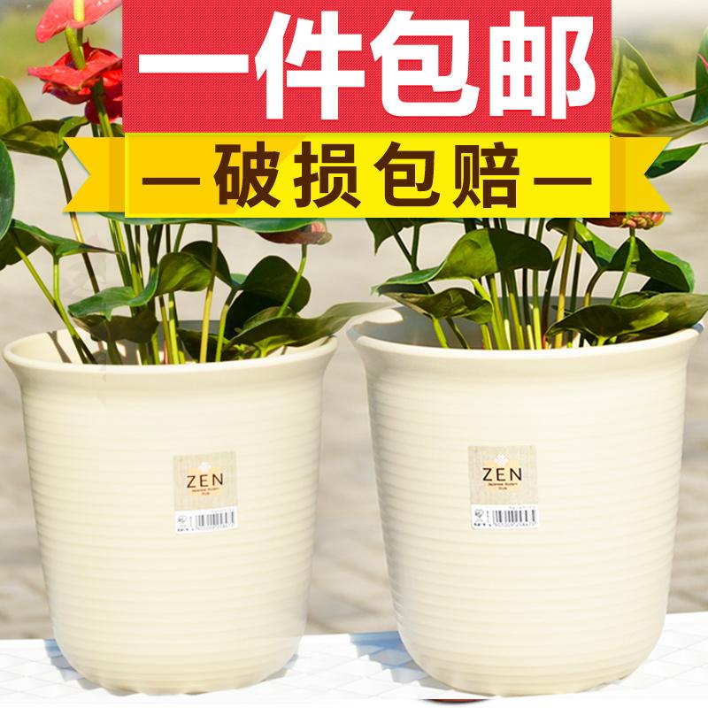 爱丽思树脂长形花盆多肉植物组合盆栽阳台种菜仿陶瓷塑料大号花盆