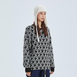 Fun潮牌原创系列女生套头毛衣秋冬季新款宽松长袖针织衫上衣