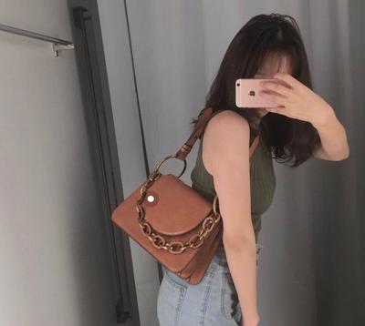 新加坡小ck女包2019年新款代购鳄鱼纹手提包正品大号口红包链条包