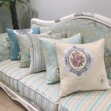 欧式沙发长条抱枕可拆洗汽车腰枕护腰床头靠垫套午睡枕头大号定制