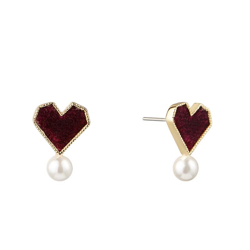 Ttajd Lucky Love Earrings Japanese and Korean style fashion elegant temperament lovely earrings women 2020 new earrings
