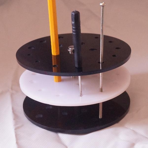 手工DIY工具收纳架圆形手机维修工具置物架整理架 模型螺丝刀架子