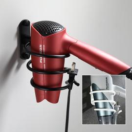 黑色厕所吹风机架置物架 卫生间太空铝吹风机筒卫浴挂件免打孔图片