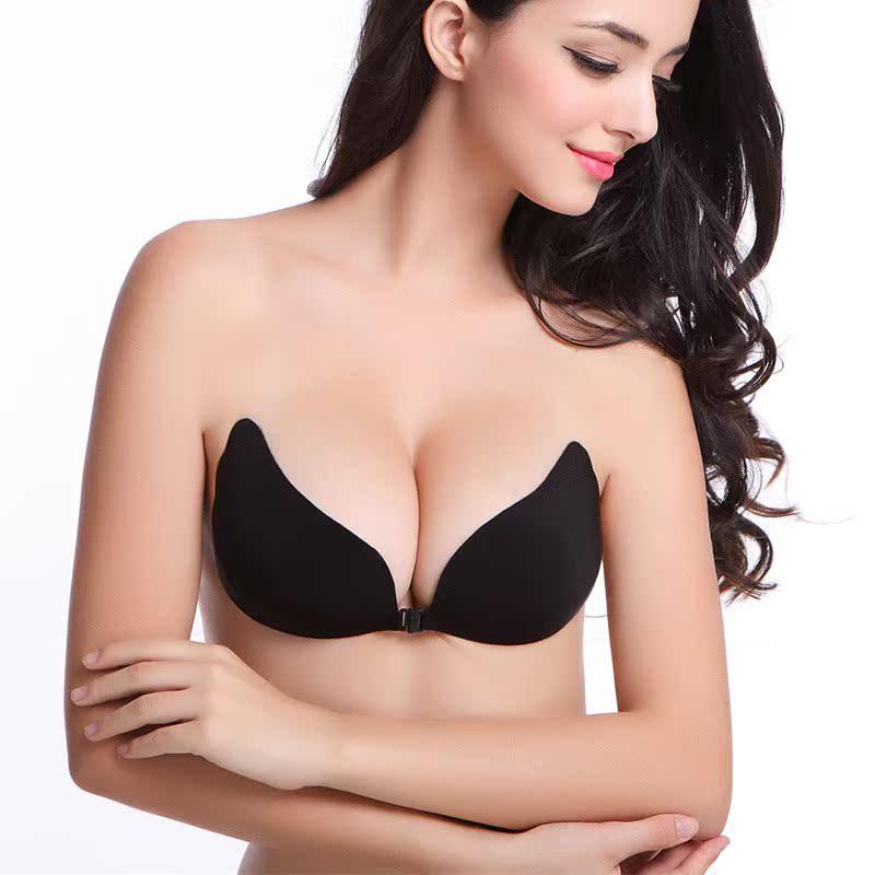 【平胸专用超厚3.5CM后带背带】6倍加厚胸贴超轻聚拢婚纱隐形文胸