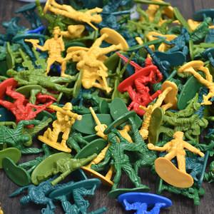 男孩儿童军事玩具成品二战小兵人美英德法日士兵打仗模型塑料套装