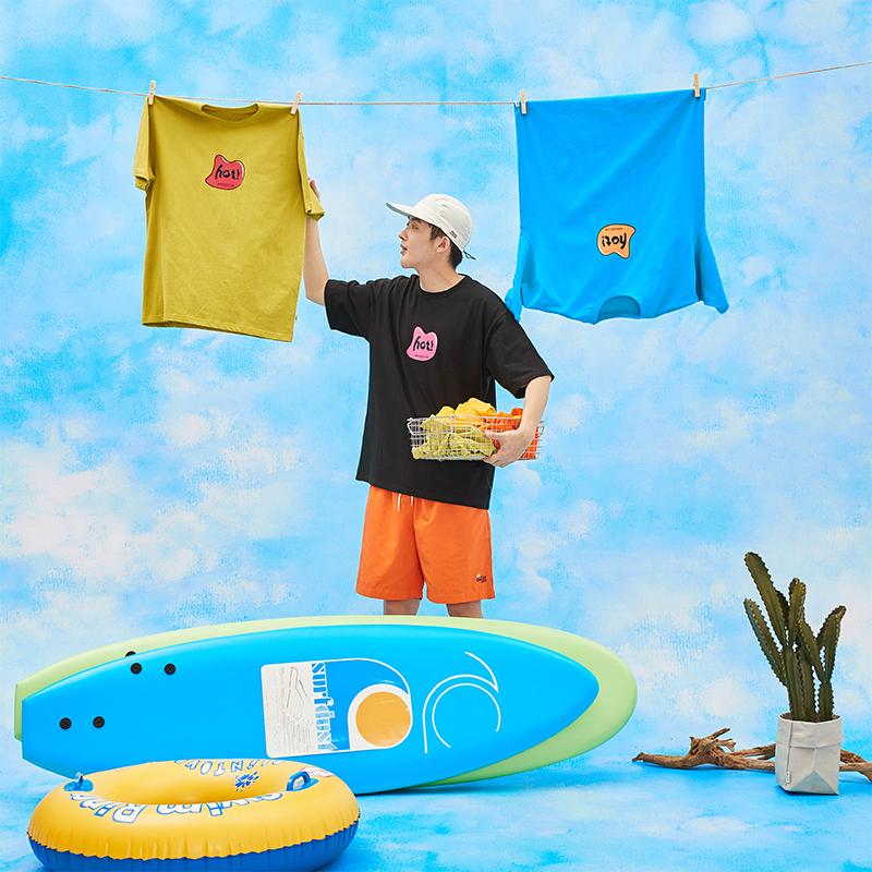 SEEZ 19SS原创设计Monogrammed T-shirt HOT 字母趣味印花纯棉T恤