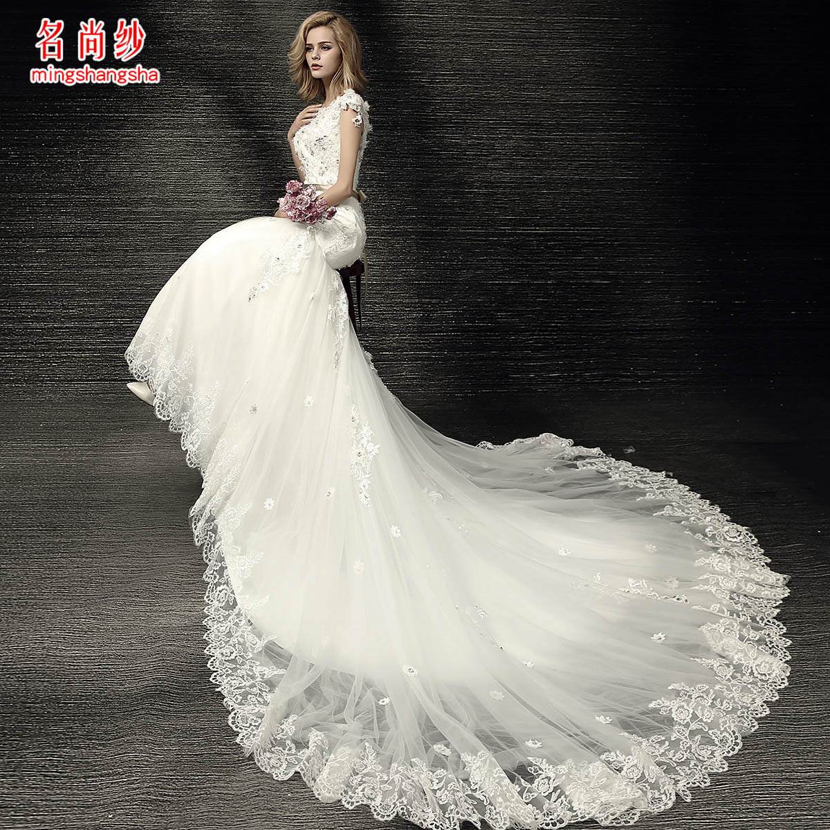 Wedding Dresses For Thin Brides : The name is yarn thin waist simple fishtail tail