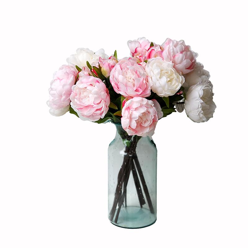 独家高仿真假花卉法式芍药牡丹家居绢插婚礼装饰热卖客厅室内摆设
