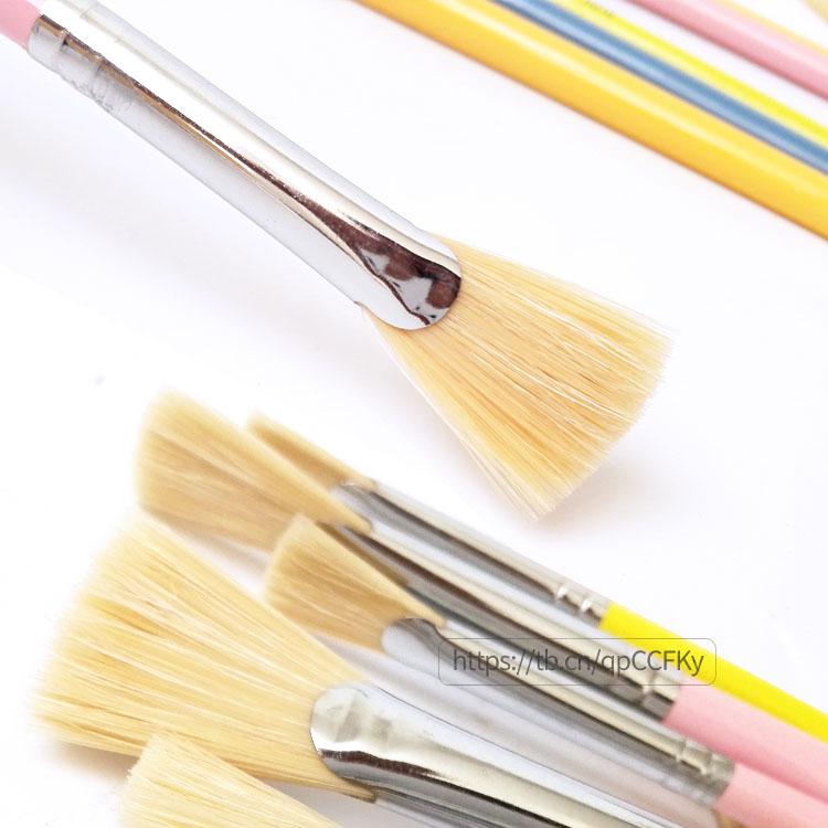 加肯猪鬃毛鱼尾扇形笔  硬毛水粉/丙烯/油画笔单支00#0#2#4#6#8#