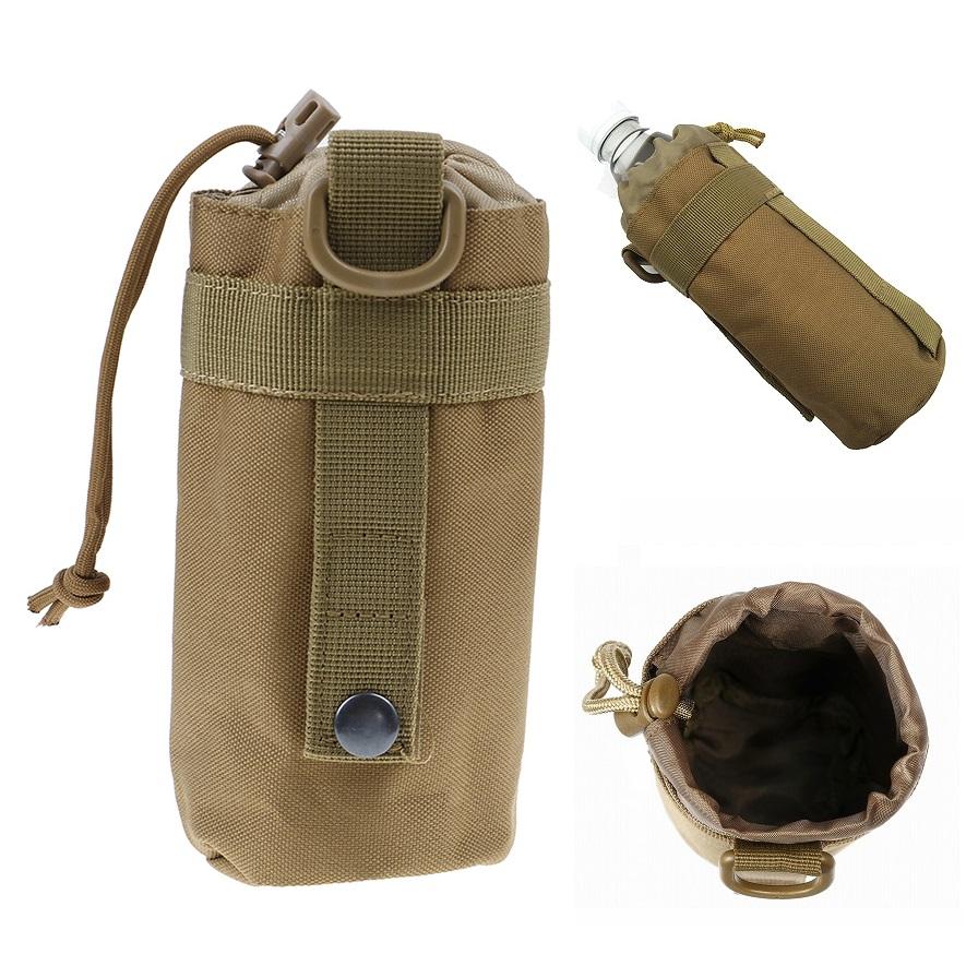 户外旅行战术壶套登山骑行MOLLE水壶挂袋直径7.5cm水杯套水瓶挂包 Изображение 1