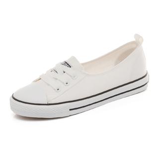 春夏一脚蹬浅口糖果色休闲平底板鞋