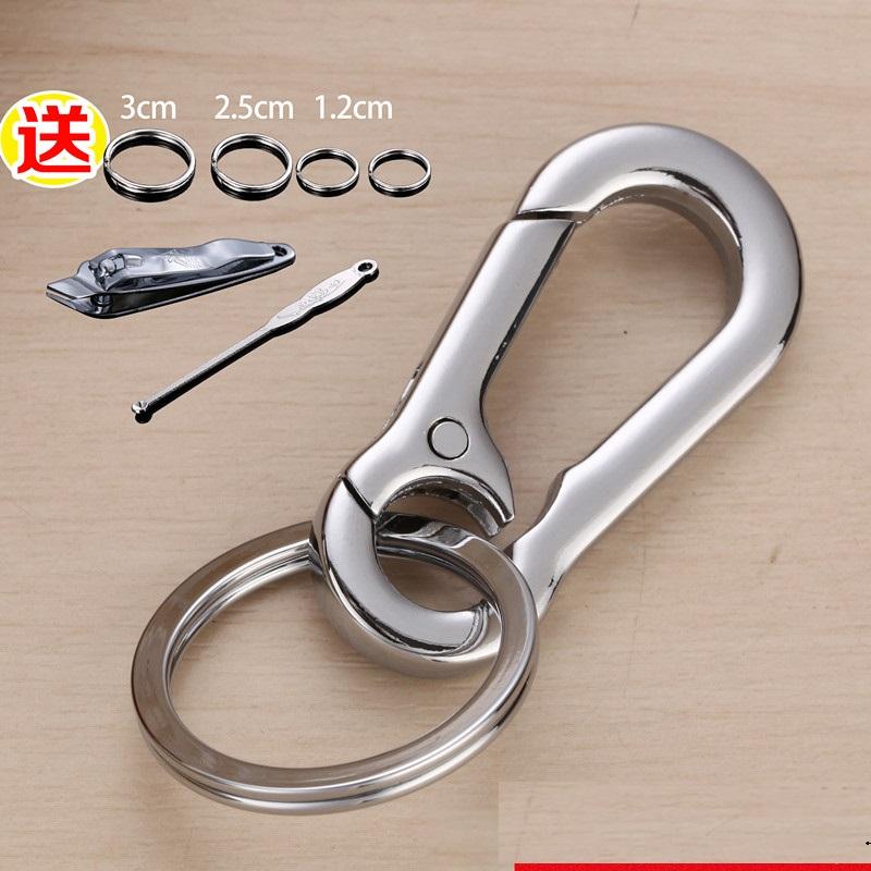 钥匙扣开口DIY简洁款礼品穿皮带标记个性锁挂扣数字大小保险铁丝