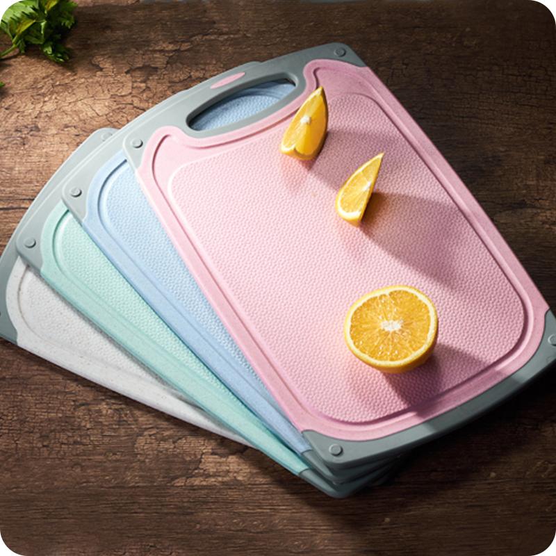 券后12.80元小麦秸秆加厚家用防滑切菜板 环保抗菌防霉砧板水果塑料案板 大号