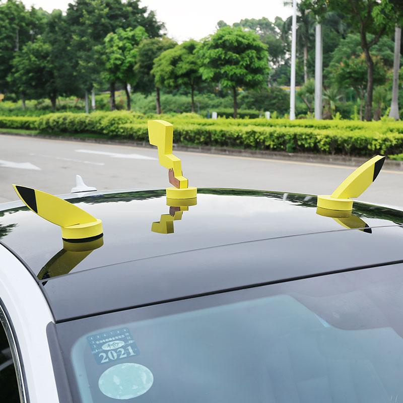 タオバオ仕入れ代行-ibuy99 汽车外装饰品 汽车顶装饰品外部车贴纸3d立体创意个性可爱卡通车饰车外皮卡丘