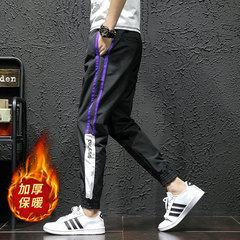 加绒加厚裤子青少年学生弹力休闲裤哈伦裤K16-P55