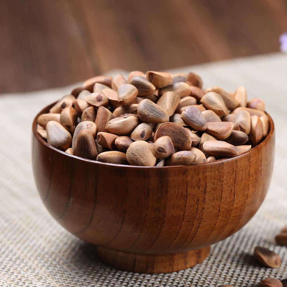 2021年新货长白山野生开口熟红松子 东北原味新鲜生的松籽500g