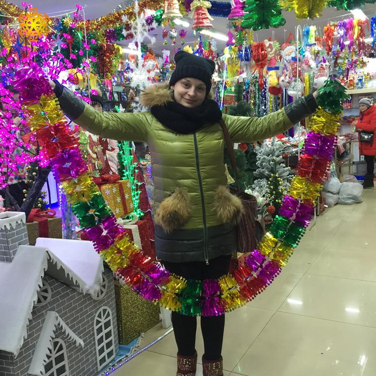 圣诞节装饰拉花彩带开业周年庆彩条手机店面店铺室内房间创意布置