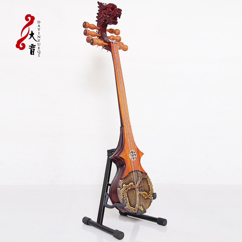 Fanchao ethnic plucked instrument Tibetan six string Brown birch eight string dragon head zhamunie six string flat head instrument