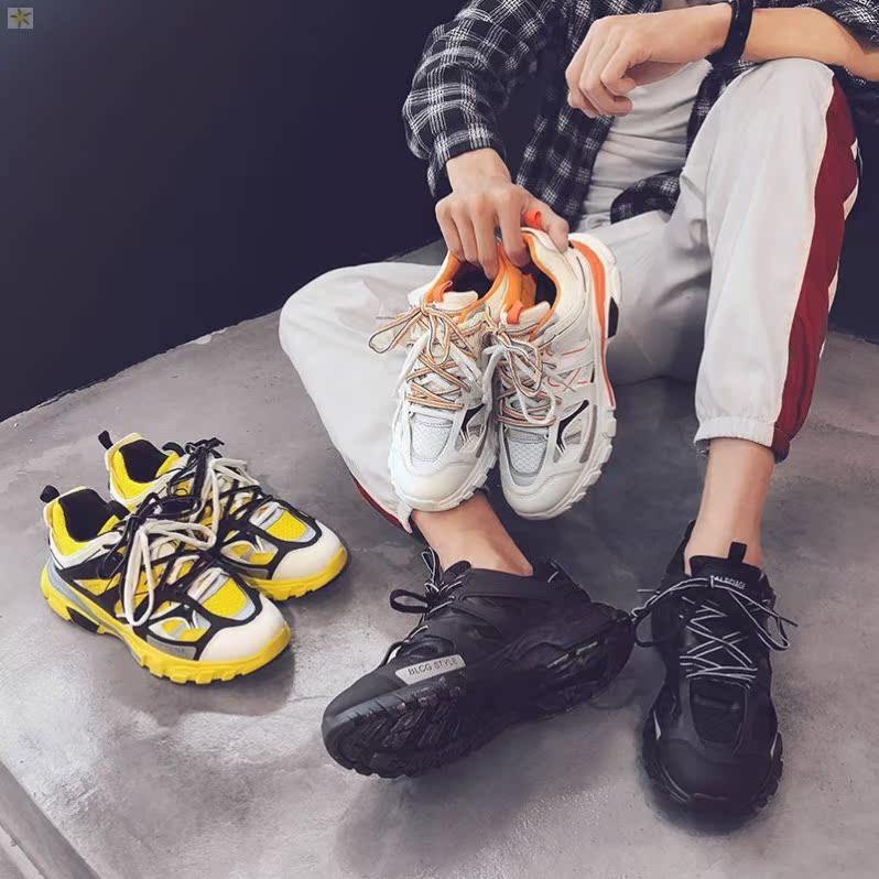 潮休闲网红新款时尚老爹鞋男秋冬季2019学生保暖鞋男鞋男生流行