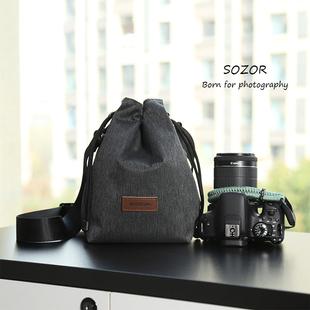 尼康D850富士XS10单肩斜挎包微单防水 佳能单反200d2代 相机包
