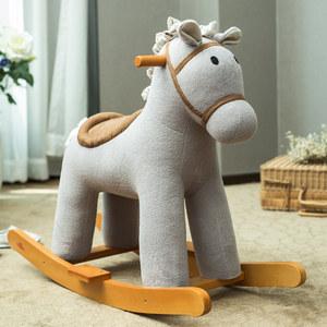 哈喜屋正品瑞典木马 儿童摇马摇椅宝宝婴儿玩具实木音乐摇摇马