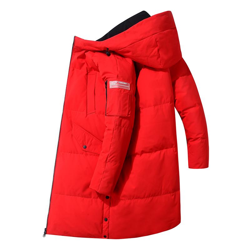 다운 롱 화이트 겨울 재킷